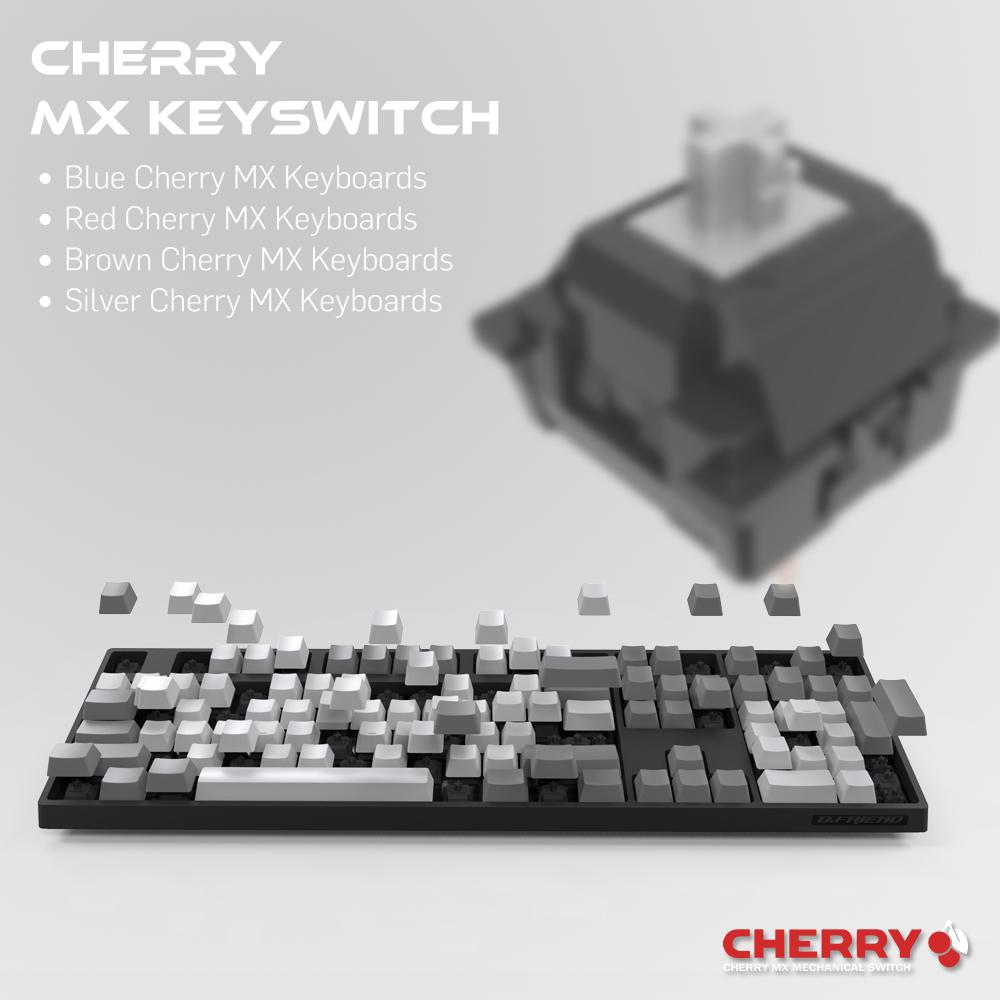 MK7,PBT鍵帽,耐磨鍵帽,機械軸,cherry軸,茶軸,white,keyboard