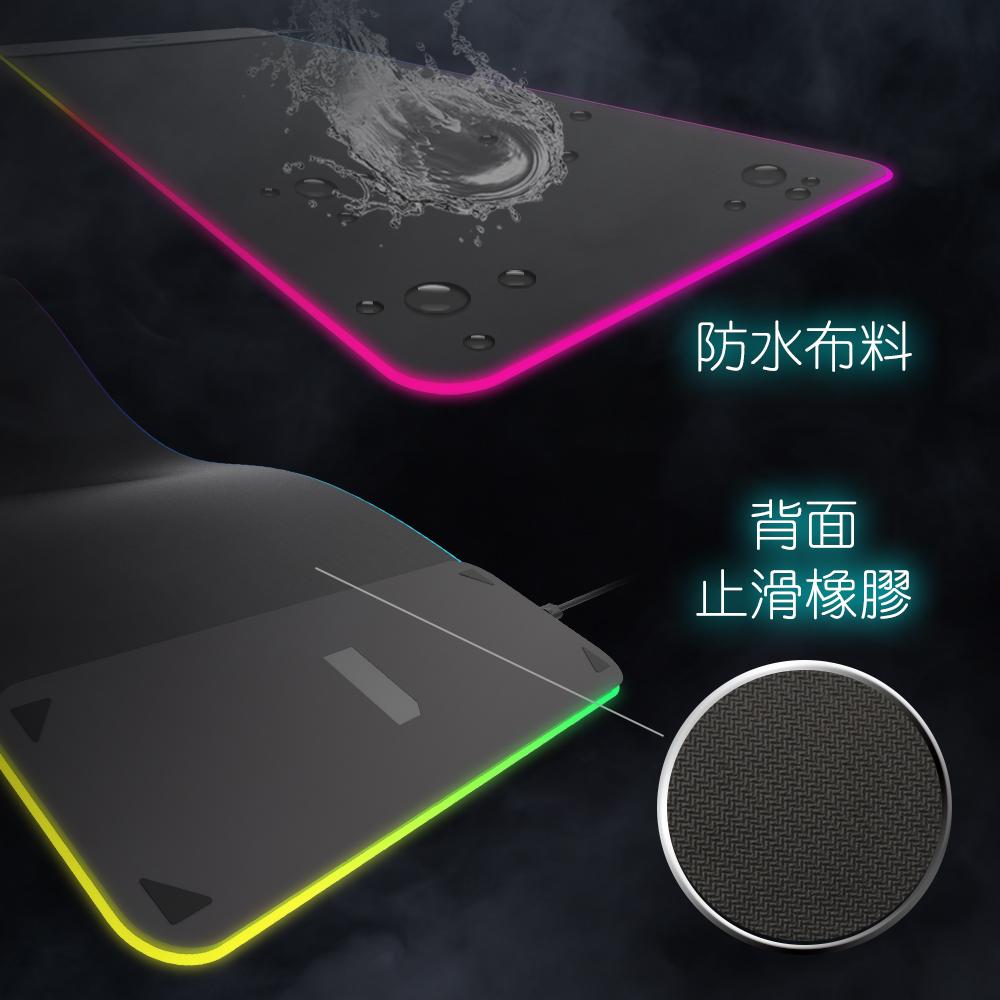 充電滑鼠墊,滑鼠墊,發光鼠墊,RGB,無線充電